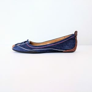 Nine West Navy Suede Leather Flats